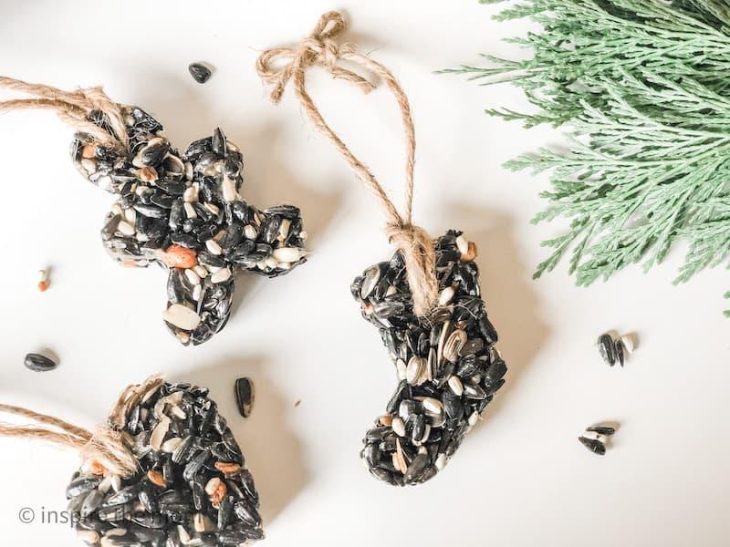 birdseed ornaments for birds