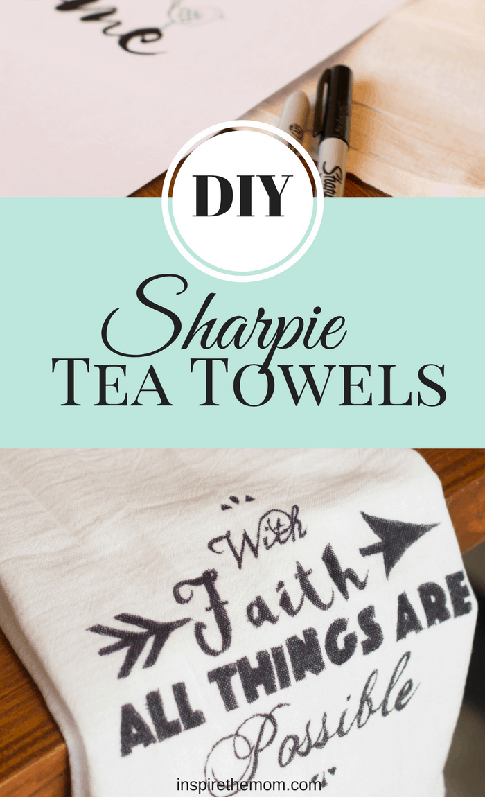 DIY sharpie tea towels