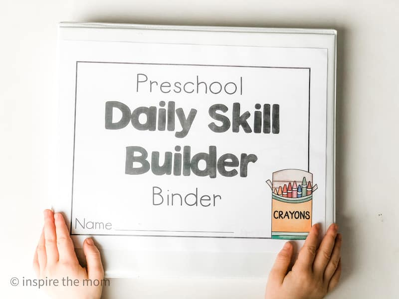 preschool daily skill builder binder