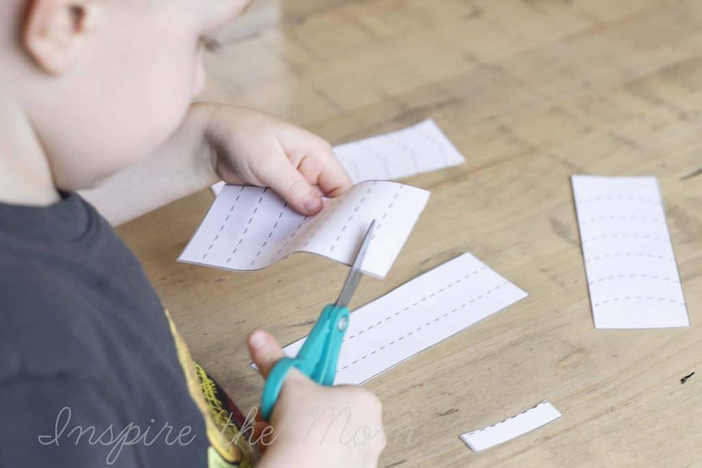 preschool daily skill builder binder scissor activities