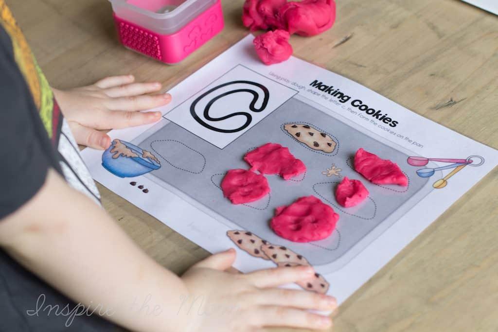 preschool daily skill building letter play dough mats