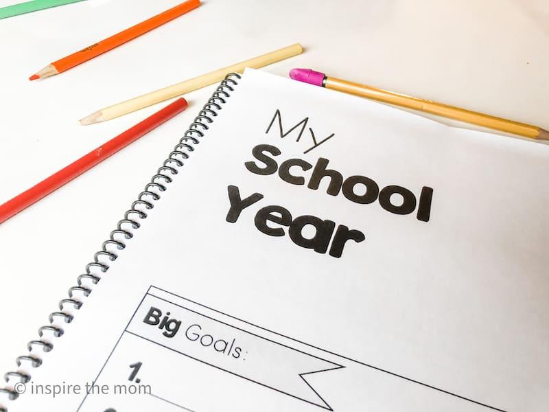free homeschool student planner my school year page