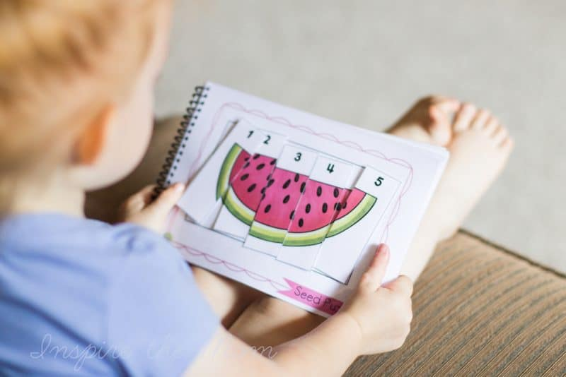 printable summer busy book watermelon puzzle