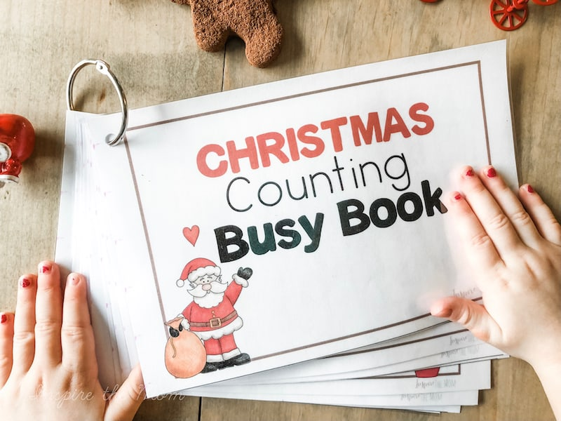 christmas counting busy book