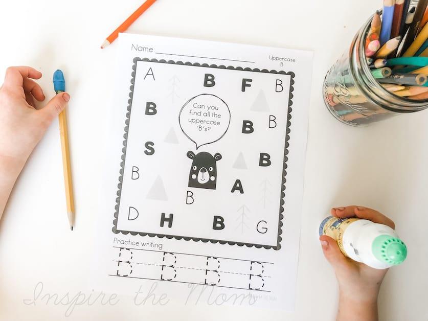 preschool dot and dab page