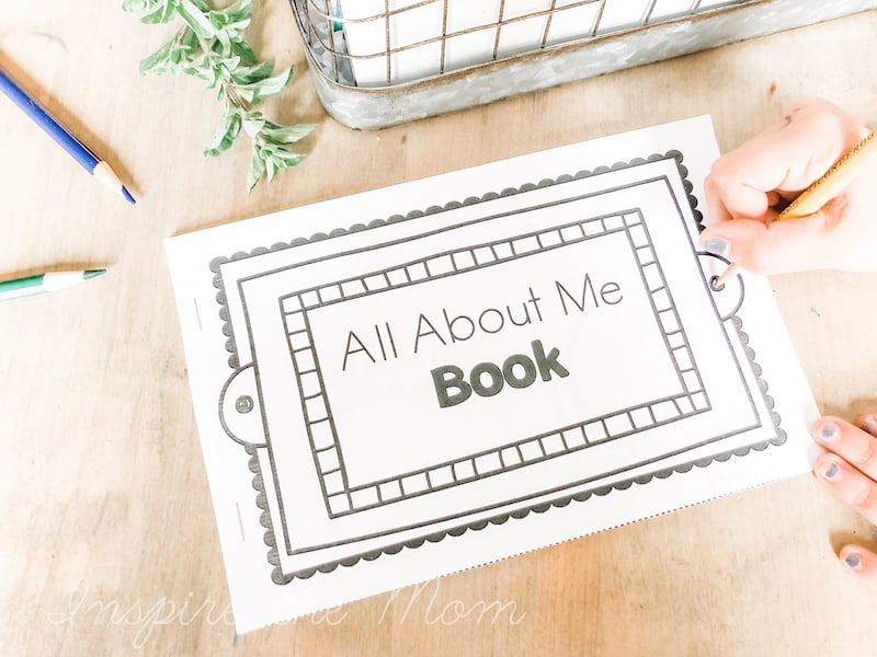 printable all about me book