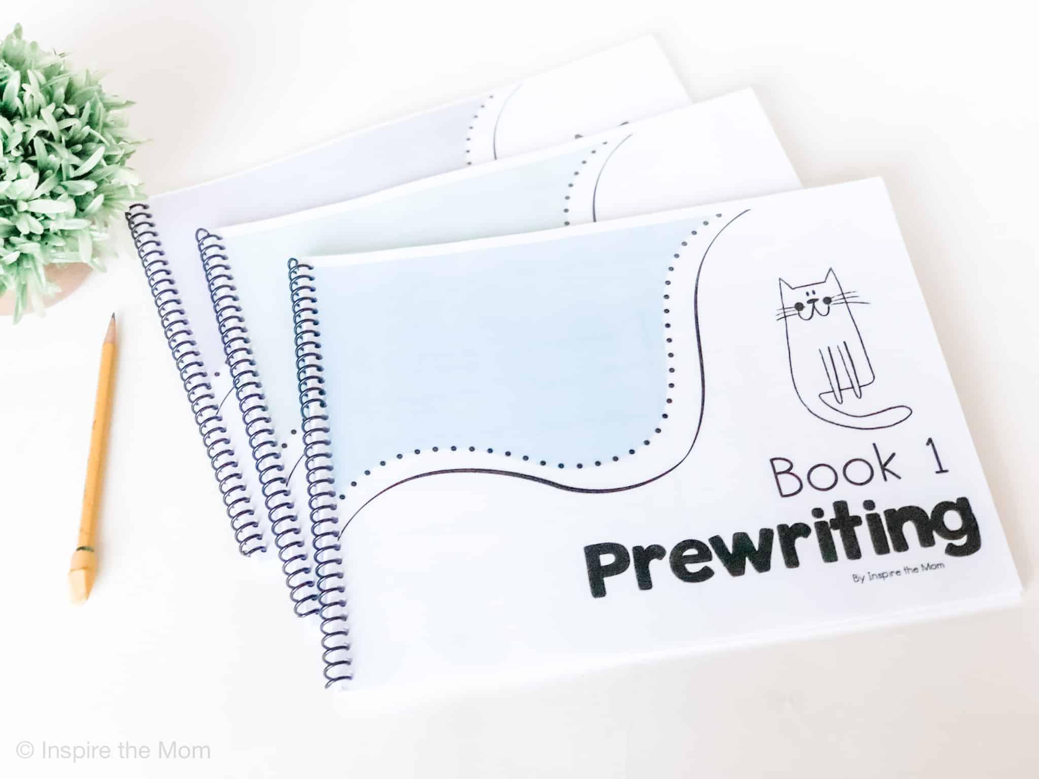 preschool prewriting curriculum book