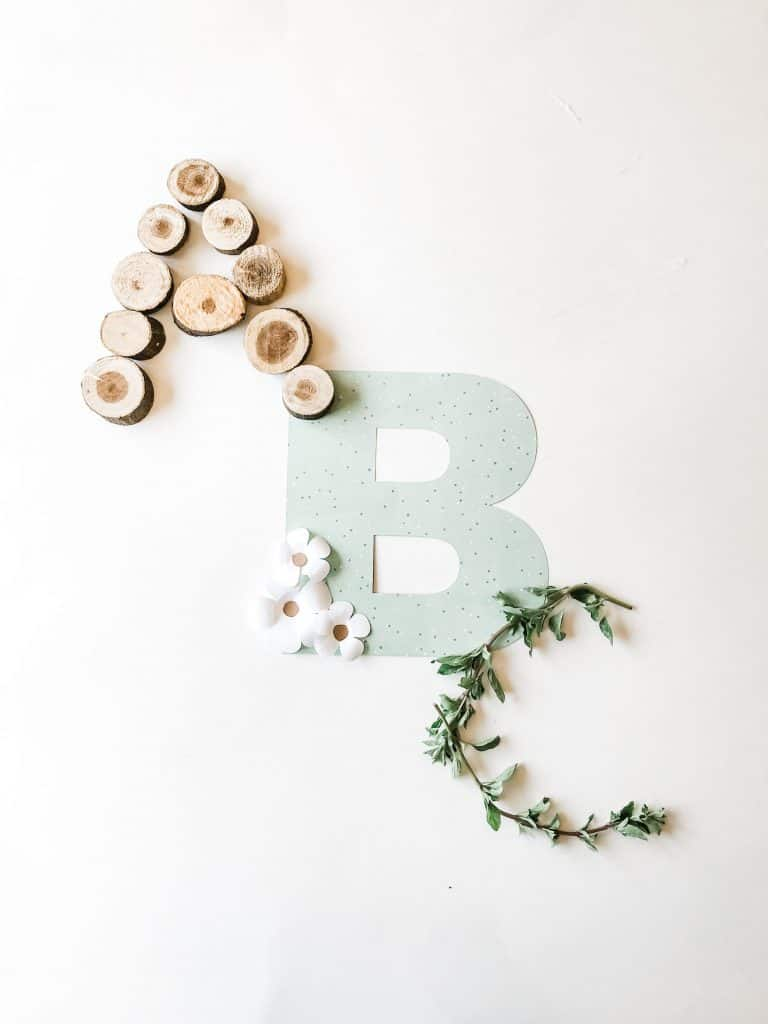 a-b-c's on white layout