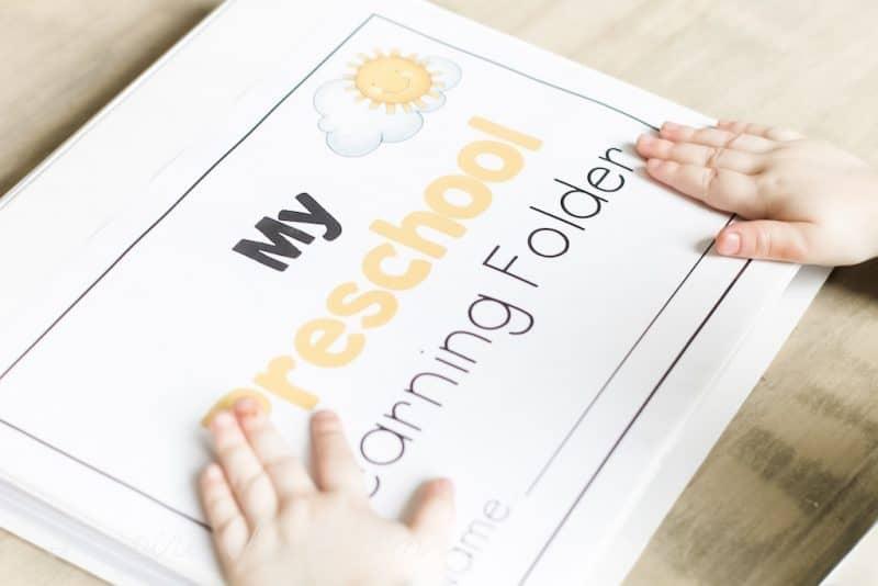 Preschool activity binder