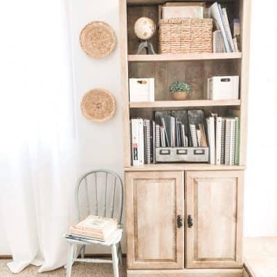 bookshelf for homeschool