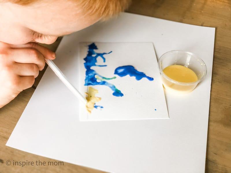 green kids craft activity