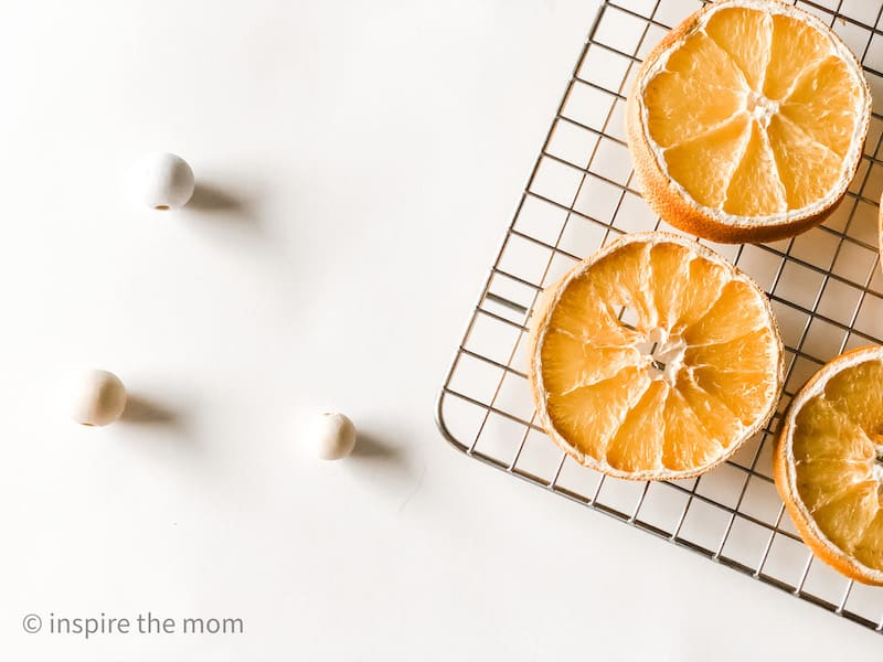 dried oranges and beads