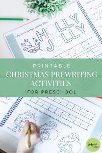 printable christmas prewriting