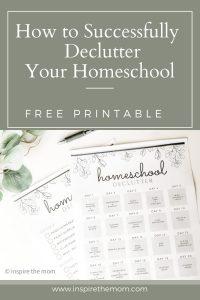 declutter you homeschool pin