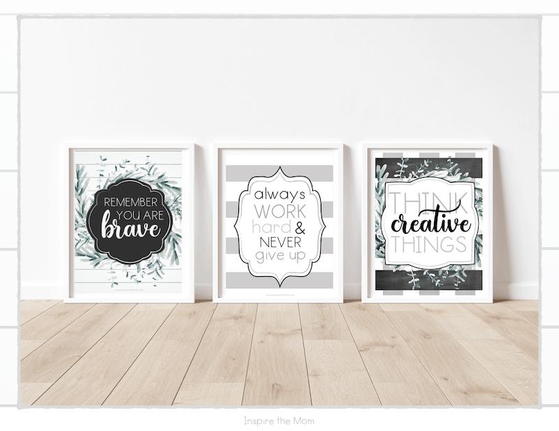 printable farmhouse motivational poster set