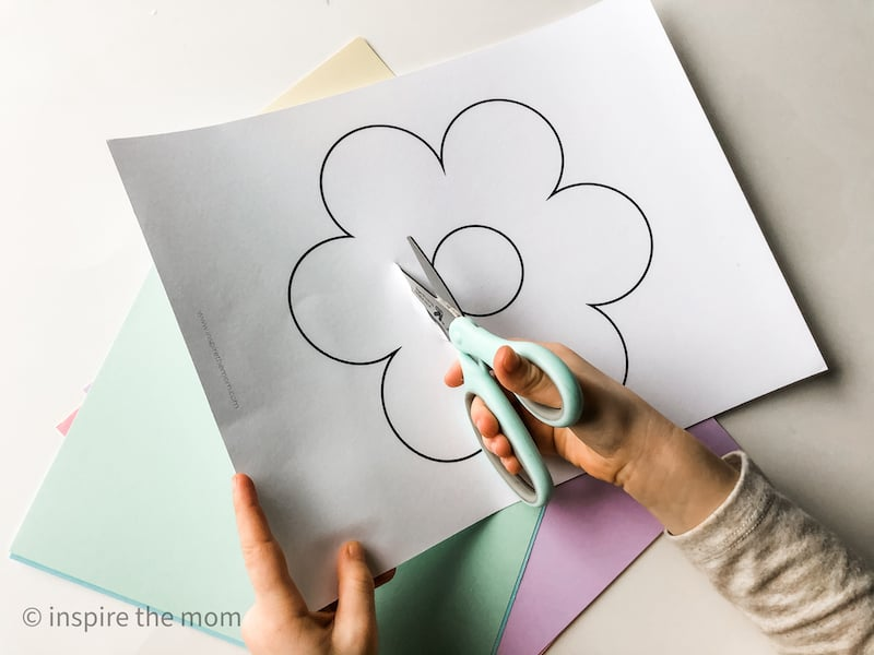 flower silhouette craft cutting flower out