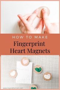 diy fingerprint heart magnet pin