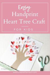 easy handprint heart tree craft pin