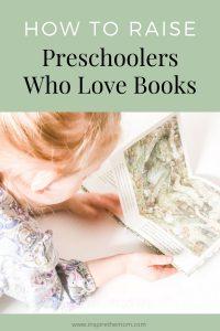 preschoolers who love books pin