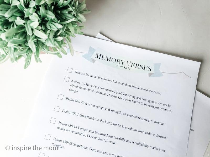 memory verse list
