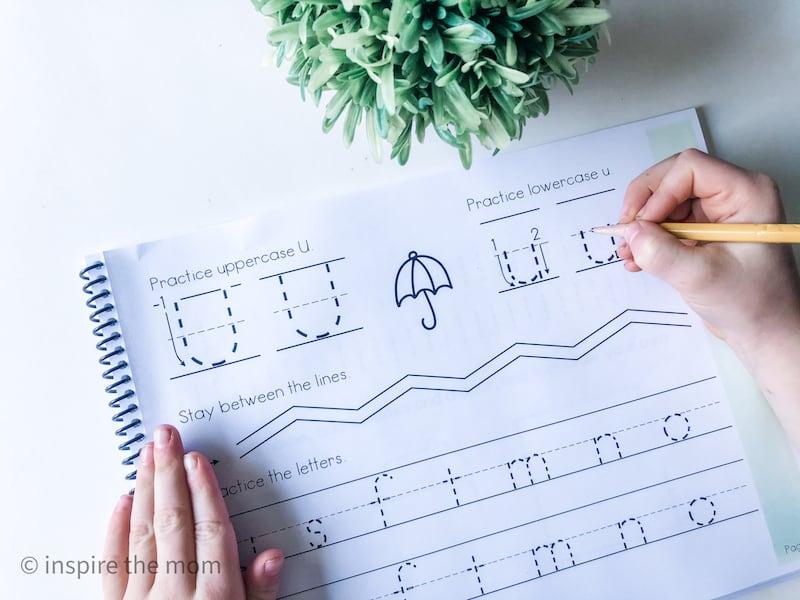 beginners handwriting book page u