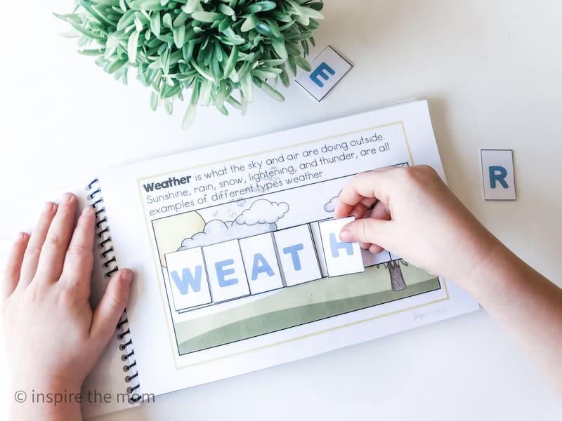printable weather busy book weather page