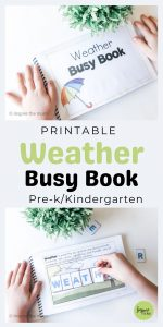 printable weather busy book pin