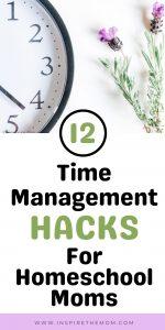 Time management hacks pin