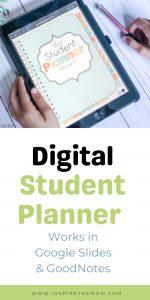 digital student planner pin