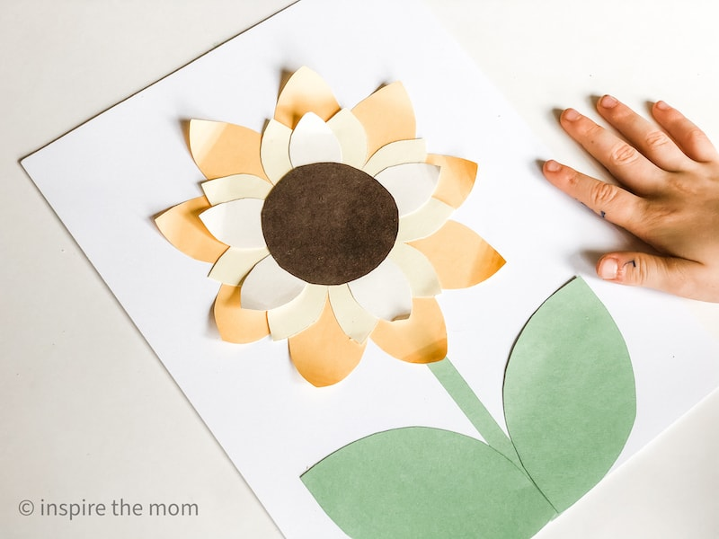 Sunflower paper craft finished