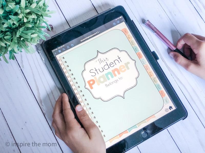 digital homeschool student planner iPad