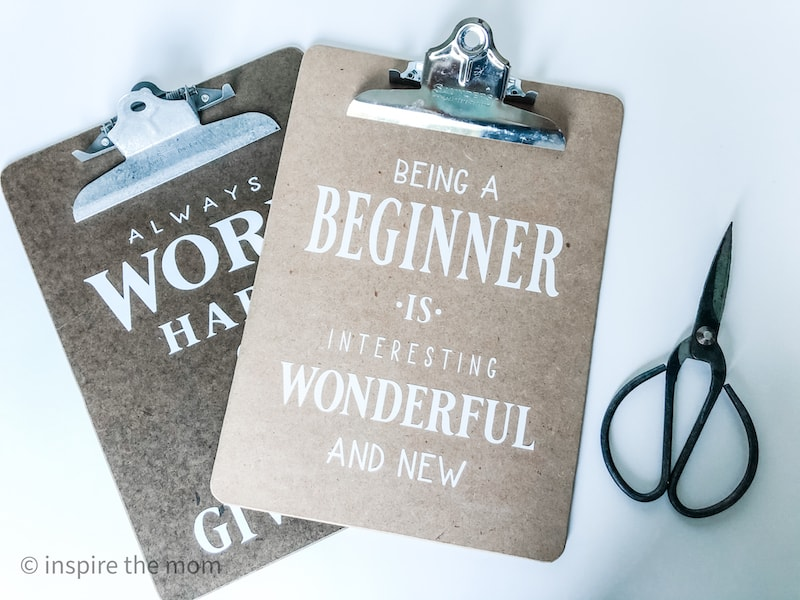motivational back to school clipboards