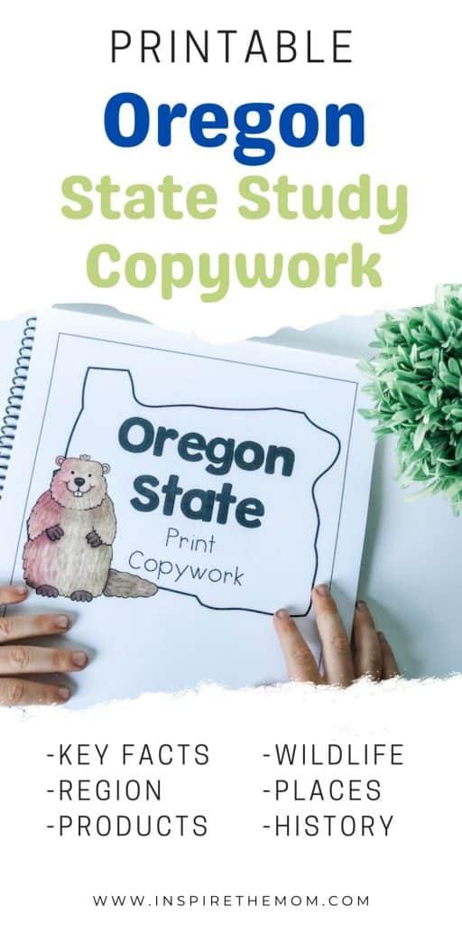 Oregon State study copywork pin