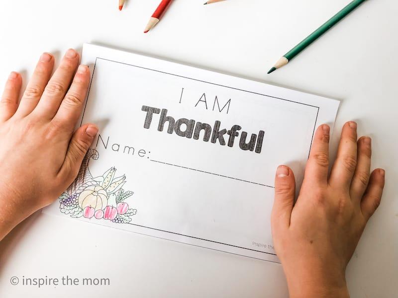 I am thankful fall emergent reader